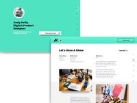 My personal portfolio website design