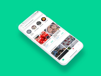 iPhone X App Concept ui marketplace layout home dashboard concept idea example inspiration design mockup iphone x