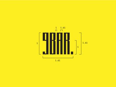 9BAR Roastery Logo typography simple negative space logo golden ratio espresso coffee clean brand bars