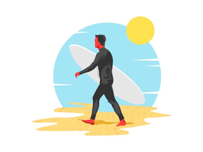 Red Surfer