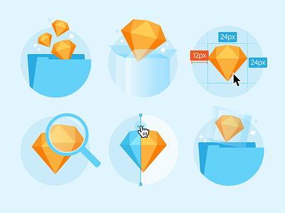 Design Spec Illustrations inspect icons specs sketch illustration illustrations