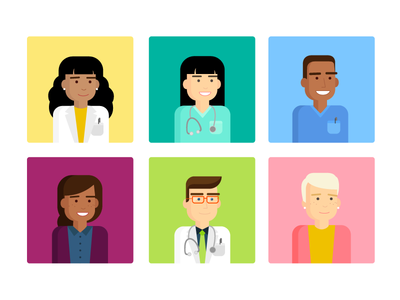 Oncology Persona Illustrations
