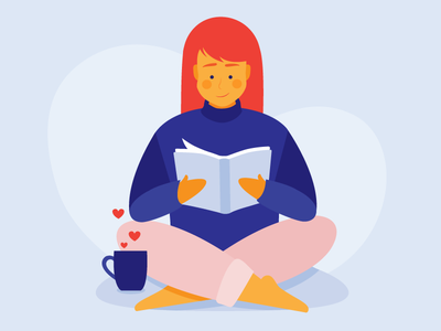 Hygge Girl sweater book calm books ginger coffee tea cozy reader reading hygge good vibes
