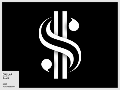 Dollar Sign - BSDS Thunderdome lettering challenge lettering daily bsds thunderdome $ cash money character symbol glyph lettering typography alphabet typography alphabet dollar sign dollars dollar