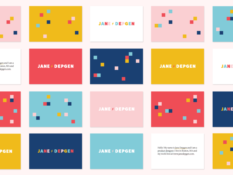 new personal branding ⚡️ pixels business cards logo branding personal branding jane depgen jane