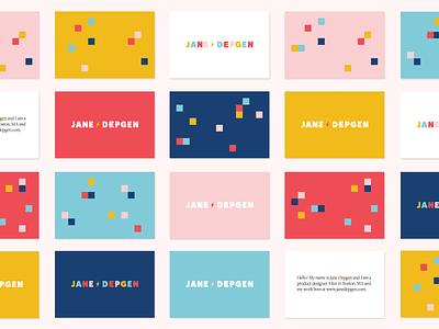 new personal branding ⚡️ pixels business cards logo branding personal branding jane depgen jane