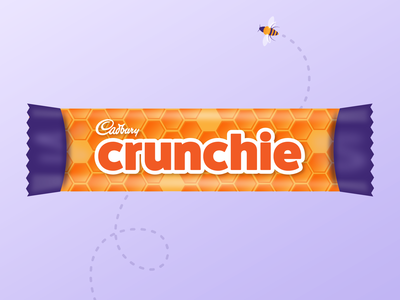 Crunchie Redesign  – Chocolate Candy Bar Wrapper