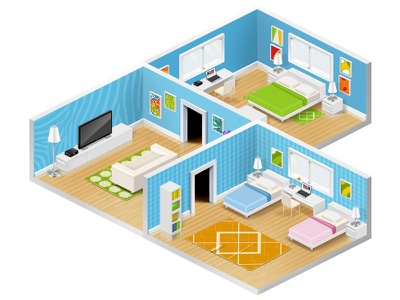 Room for game game room isometric