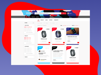 Search Community wearables tags facets cards ui ux search