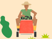 Farmer On Mower