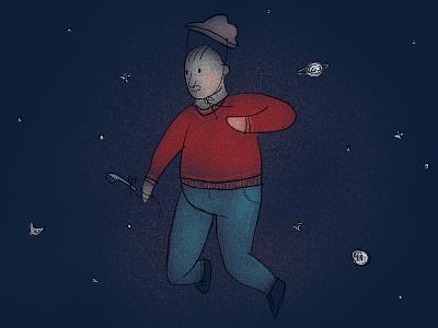 Space Traveller ipadproart procreate characterdesign illustration