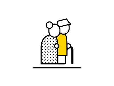 Elderly couple icon graphics couple icon