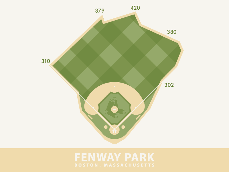 Fenway Park boston massachusetts fenway park red sox illustrator design vector bill buckner