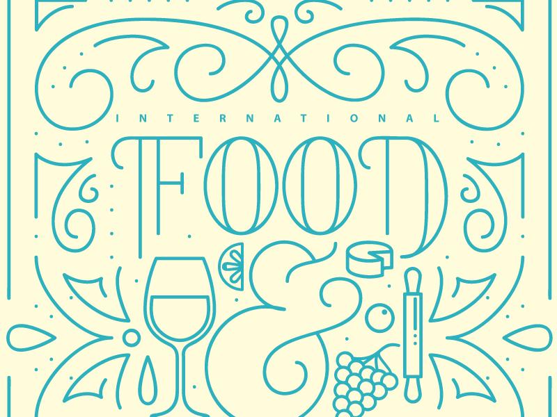 Food & Wine vintage modern illustrator illustration graphic design flat epcot disney design clean