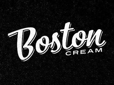 Boston Cream  branding logo vintage boston cream