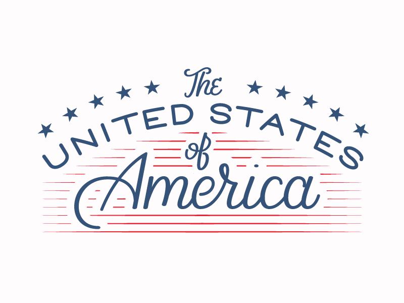 United States of America lettering illustrator vector america united states team usa olympics