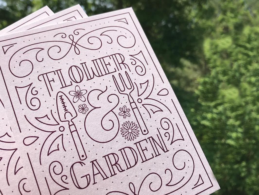 Flower & Garden epcot lettering disney graphic design clean vector illustration illustrator design