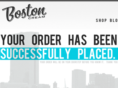 Successful Order! boston cream boston white web clean