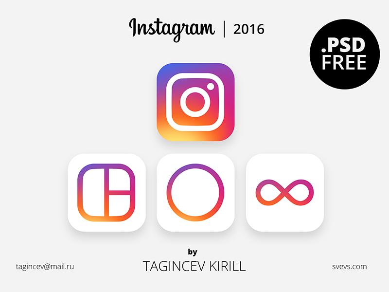 Instagram 2016 (FREE PSD) svevs 2016 instagram icon psd free