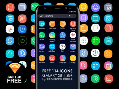 ICON for Galaxy S8   S8+ (FREE) cleanui free galaxy samsung s8 sketch icon