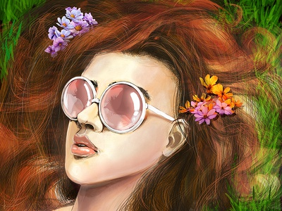 Alice (Digital drawing 2017) best cool art illustration wacomcintiqcompanione2 wacom 2017 picture drawing digital