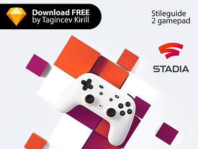 Stadia [Google] color logo 2019 download free sketch gamepad game stileguide google stadia