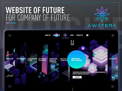 AWATERA trend gradient animation innovate design 2020 2019 2018 site best cool future ux web awatera uxd ui  ux