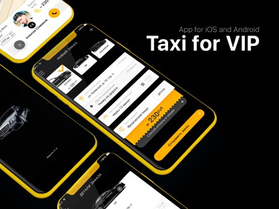 App Taxi VIP art interface android ios vip taxi mobile app ux design illustration cool ui