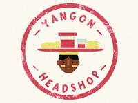 Yangon Headshop Stamp