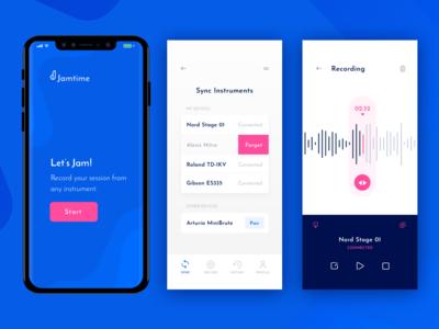 Mobile Recording App sketch productivity recorder bluetooth design mobile branding ui ux