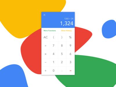 Daily UI #4: Calculator
