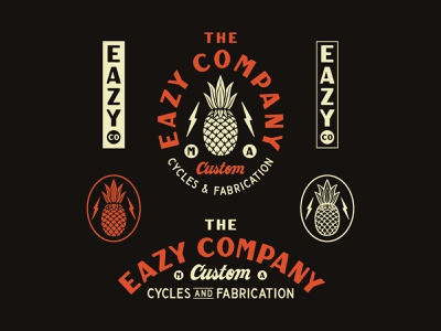 The Eazy Company hand drawn hand lettering branding lettering type handmade drawing graphic design design illustration