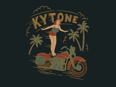 Kytone Surfer hand drawn branding hand lettering type lettering handmade drawing graphic design design illustration