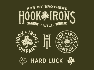 Hook & Irons traditional branding hand lettering type lettering handmade drawing graphic design design illustration