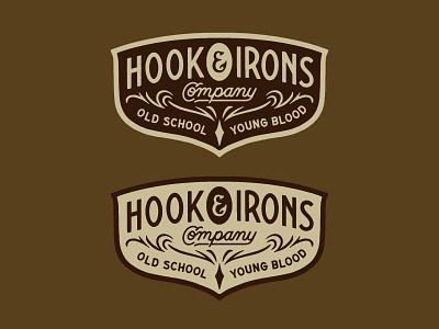 Hook & Irons traditional branding hand lettering type lettering handmade drawing graphic design design illustration