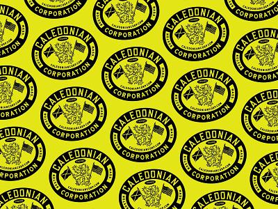 Caledonian Corporation branding design caledonian branding lettering handmade drawing graphic design design illustration