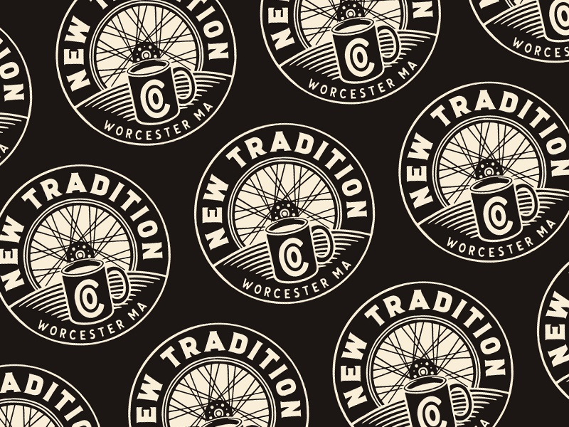 New Tradition Co. massachusetts worcester new tradition company type lettering branding hand drawn illustration design