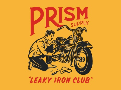 Leaky Iron Club harley davidson vintage hand drawn chopper type lettering drawing handmade design graphic design illustration