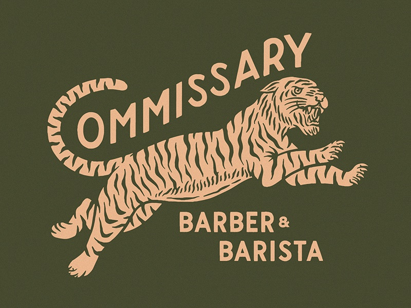 Commissary Barber & Barista (1) typography vector logo vintage traditional hand drawn hand lettering branding lettering type handmade drawing design graphic design illustration