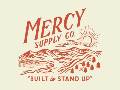 Mercy Supply Co. Tee mercy supply apparel vintage traditional hand drawn hand lettering branding lettering type handmade drawing graphic design design illustration