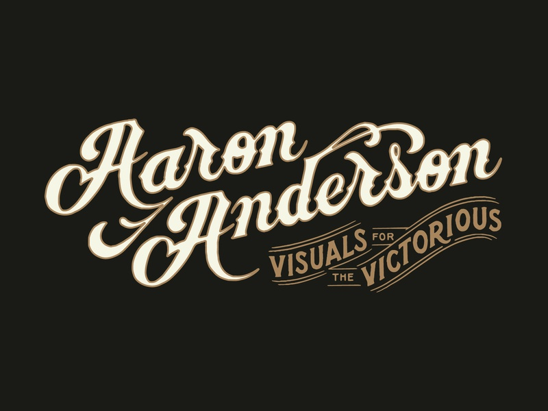 Aaron Anderson Logotype vector logo typography vintage traditional hand drawn hand lettering branding lettering type handmade drawing graphic design design illustration