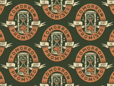 Tomorrow Is Not Promised in god we must badge traditional hand drawn hand lettering branding lettering type handmade drawing graphic design design illustration