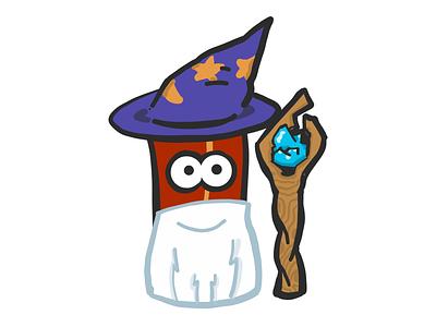 Wizard Bacon stickers emoji wizard mister bacon