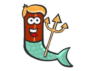 Bacon Merman stickers emoji sea merman mister bacon