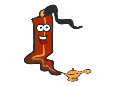 Bacon Genie stickers emoji lamp genie mister bacon