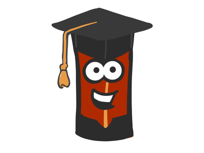 Male Student Bacon stickers emoji male student graduate mister bacon