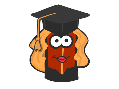 Female Student Bacon stickers emoji female student graduate mister bacon