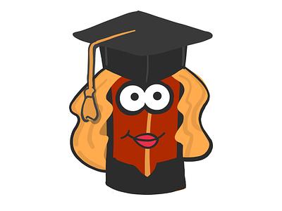 Female Student Bacon stickers emoji female student graduate mister bacon