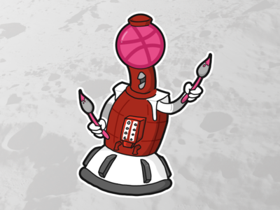 Mystery Dribbble Theater 3000: Tom Servo the Artist