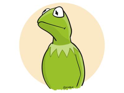 Pensive Kermit ipad pro adobe draw green muppets kermit
